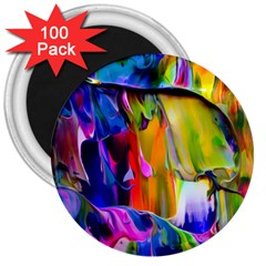 Abstract Acryl Art 3  Magnets (100 Pack)