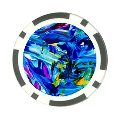 Abstract Acryl Art Poker Chip Card Guard