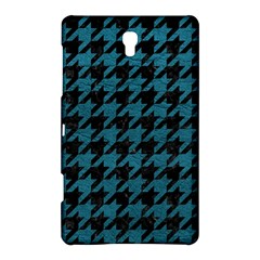 Houndstooth1 Black Marble & Teal Leather Samsung Galaxy Tab S (8 4 ) Hardshell Case