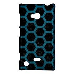 Hexagon2 Black Marble & Teal Leather (r) Nokia Lumia 720