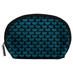 Scales3 Black Marble & Teal Leather Accessory Pouches (large)