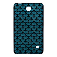 Scales3 Black Marble & Teal Leather Samsung Galaxy Tab 4 (7 ) Hardshell Case