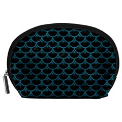 Scales3 Black Marble & Teal Leather (r) Accessory Pouches (large)