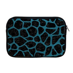 Skin1 Black Marble & Teal Leather Apple Macbook Pro 17  Zipper Case