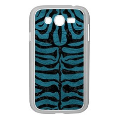 Skin2 Black Marble & Teal Leather Samsung Galaxy Grand Duos I9082 Case (white)
