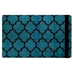 Tile1 Black Marble & Teal Leather Apple Ipad Pro 12 9   Flip Case