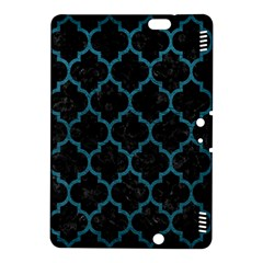 Tile1 Black Marble & Teal Leather (r) Kindle Fire Hdx 8 9  Hardshell Case