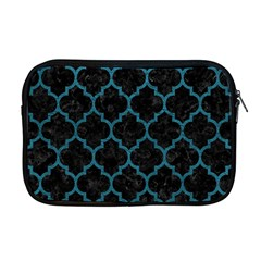 Tile1 Black Marble & Teal Leather (r) Apple Macbook Pro 17  Zipper Case