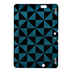 Triangle1 Black Marble & Teal Leather Kindle Fire Hdx 8 9  Hardshell Case