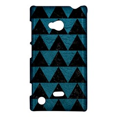 Triangle2 Black Marble & Teal Leather Nokia Lumia 720