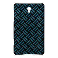 Woven2 Black Marble & Teal Leather (r) Samsung Galaxy Tab S (8 4 ) Hardshell Case