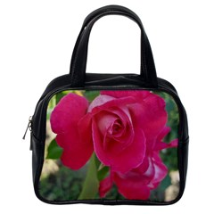 Romantic Red Rose Photography Classic Handbags (one Side)