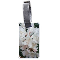 Floral Design White Flowers Photography Luggage Tags (two Sides)