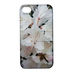 Floral Design White Flowers Photography Apple Iphone 4/4s Hardshell Case With Stand