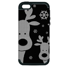 Cute Reindeer  Apple Iphone 5 Hardshell Case (pc+silicone)