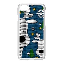 Cute Reindeer  Apple Iphone 8 Seamless Case (white)