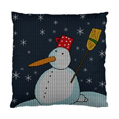 Snowman Standard Cushion Case (one Side)