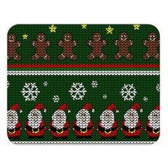 Ugly Christmas Sweater Double Sided Flano Blanket (large)