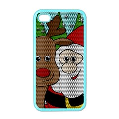 Santa And Rudolph Selfie  Apple Iphone 4 Case (color)
