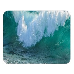 Awesome Wave Ocean Photography Double Sided Flano Blanket (large)