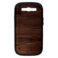Rustic Dark Brown Wood Wooden Fence Background Elegant Samsung Galaxy S Iii Hardshell Case (pc+silicone)