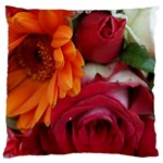 Floral Photography Orange Red Rose Daisy Elegant Flowers Bouquet Large Cushion Case (Two Sides) Front