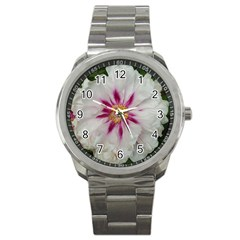 Floral Soft Pink Flower Photography Peony Rose Sport Metal Watch