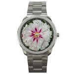 Floral Soft Pink Flower Photography Peony Rose Sport Metal Watch Front