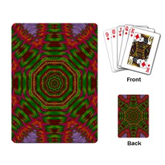 Feathers And Gold In The Sea Breeze For Peace Playing Card
