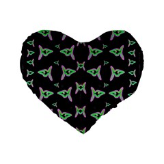 Fishes Talking About Love And Stuff Standard 16  Premium Heart Shape Cushions