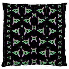 Fishes Talking About Love And Stuff Large Flano Cushion Case (one Side)
