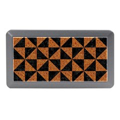 Triangle1 Black Marble & Teal Leather Memory Card Reader (mini)