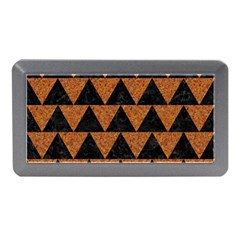 Triangle2 Black Marble & Teal Leather Memory Card Reader (mini)