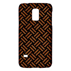 Woven2 Black Marble & Teal Leather (r) Galaxy S5 Mini