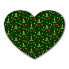 Christmas Pattern Heart Mousepads