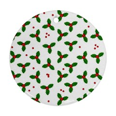 Christmas Pattern Round Ornament (two Sides)