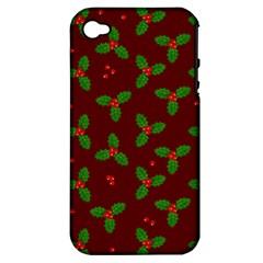 Christmas Pattern Apple Iphone 4/4s Hardshell Case (pc+silicone)