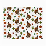 Thanksgiving turkey  Small Glasses Cloth (2-Side) Front