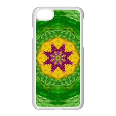 Feathers In The Sunshine Mandala Apple Iphone 8 Seamless Case (white)