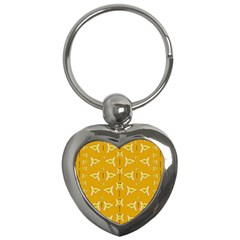 Fishes Talking About Love And   Yellow Stuff Key Chains (heart)