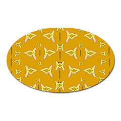 Fishes Talking About Love And   Yellow Stuff Oval Magnet