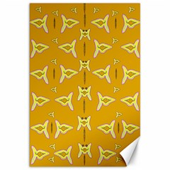 Fishes Talking About Love And   Yellow Stuff Canvas 20  X 30
