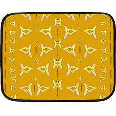 Fishes Talking About Love And   Yellow Stuff Fleece Blanket (mini)