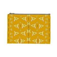 Fishes Talking About Love And   Yellow Stuff Cosmetic Bag (large)