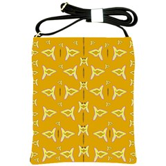 Fishes Talking About Love And   Yellow Stuff Shoulder Sling Bags