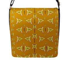 Fishes Talking About Love And   Yellow Stuff Flap Messenger Bag (l)
