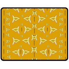 Fishes Talking About Love And   Yellow Stuff Double Sided Fleece Blanket (medium)