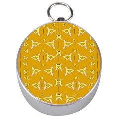 Fishes Talking About Love And   Yellow Stuff Silver Compasses