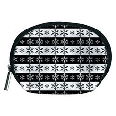 Snowflakes   Christmas Pattern Accessory Pouches (medium)