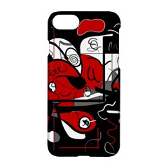 Red Black And White Abstraction Apple Iphone 7 Hardshell Case